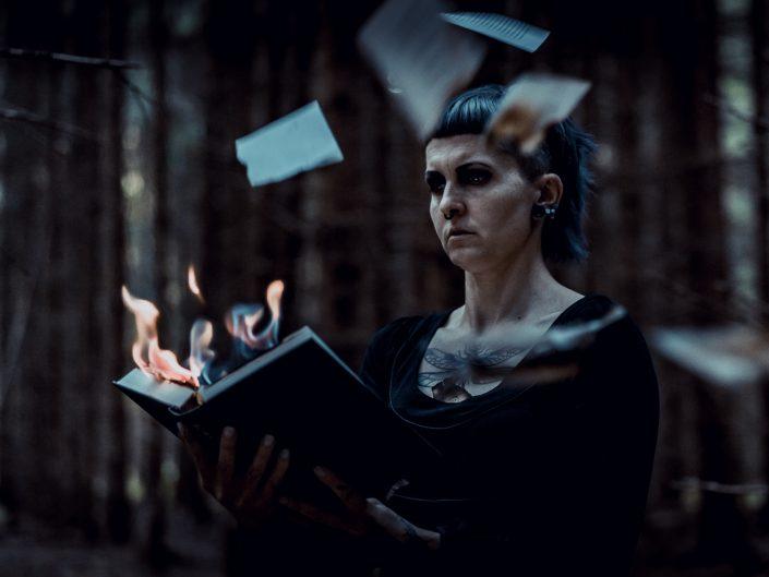Wald, Feuer, Buch, Blätter