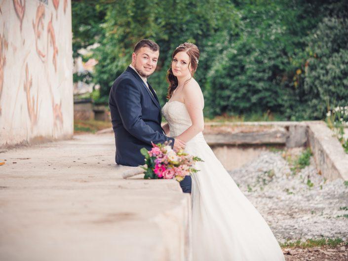 Brautpaarshooting in weiß