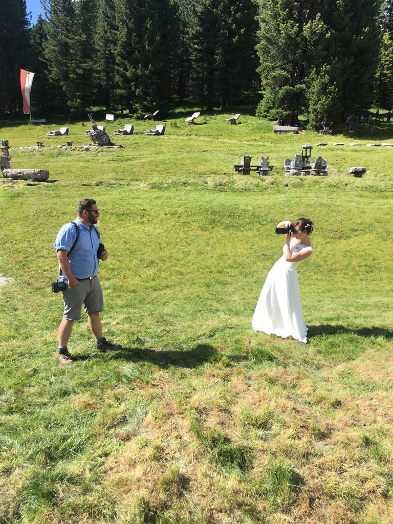 Braut fotografiert